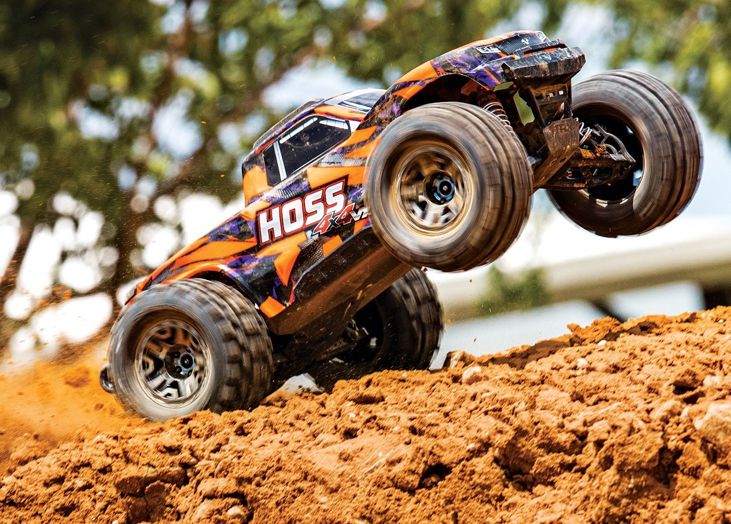 Fandacycle Professional Gear and Apparel in Columbia MO 90076-4-Hoss-4x4-VXL-ORANGE-Dirt-Wheelie-1292